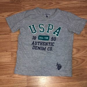 4 for $20 U.S. Polo Gray Tee, Size 4T